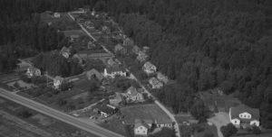 Flygbild över Valskogs samhälle