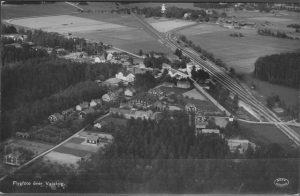 Flygbild över Valskog sett från norr